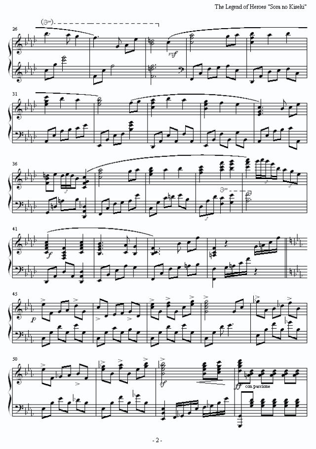 空之轨迹部分 钢琴谱子 包-逆战钢琴谱 逆战钢琴谱不是简谱 梦中的婚
