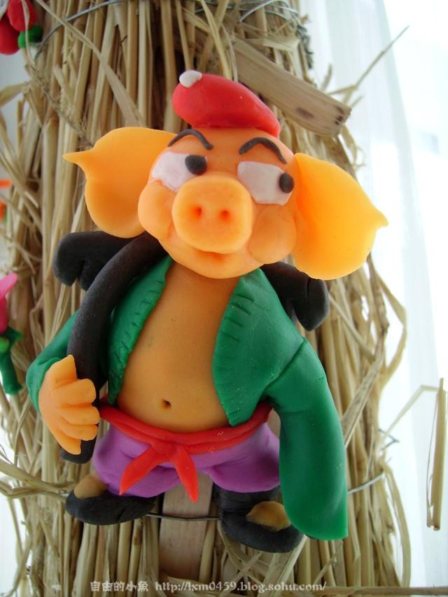 彩泥作品图片动物猪