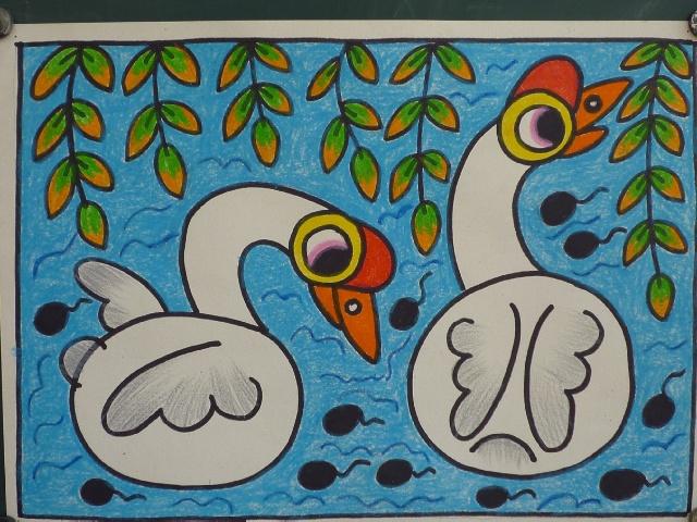 儿童美术兴趣班范画