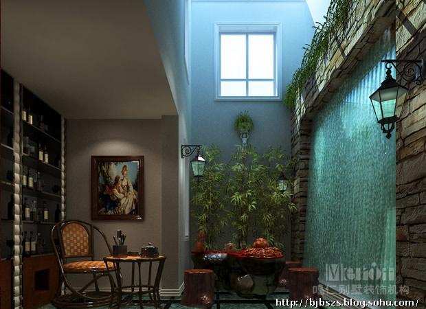 茶室中庭设计平面图