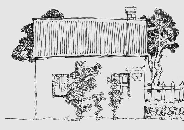 design 简单建筑钢笔画速写_风景520  用彩铅画的风景速写图_风景520