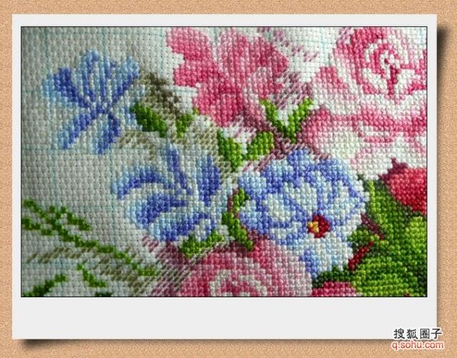 [免费]十字绣粉红玫瑰价钱::十字绣粉红玫瑰绣法::绣
