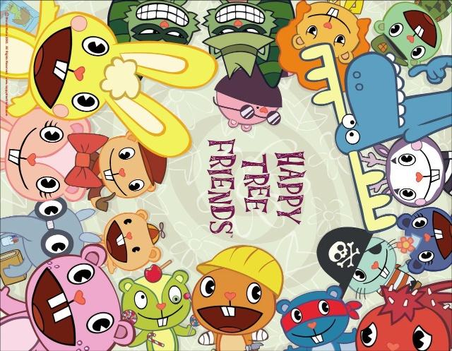 《happy tree friends》 如果仅是看这海报,一定被蒙蔽了,可千万别让小朋友们看,片子中这些小动物一点都不可爱,非常变态。整部动画,恶心至极。你所能想到的所想不到的场面,全都会出现。非常暴力、血腥,真是无语。这还是小兔力荐给我的片子呢,果然如你所说啊。不过,已满18周岁的人看看无妨,挺刺激的。就像豆瓣中有朋友说,想自杀的人先看看这个吧,嗯,的确,会丧失想死的心情。 动画是多么好的东西,我喜欢,是我生活中的一部分。很多片子都是朋友介绍的,很感谢。多让小朋友看看动画也是好的,小小年纪不应该看太