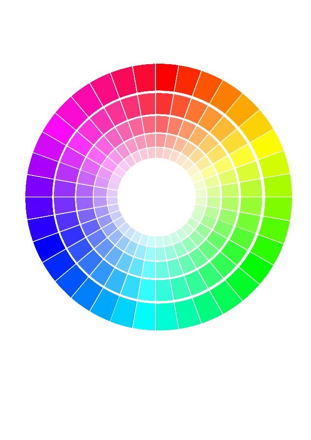 十二色环图矢量图