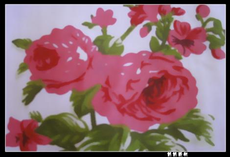 布贴画花朵