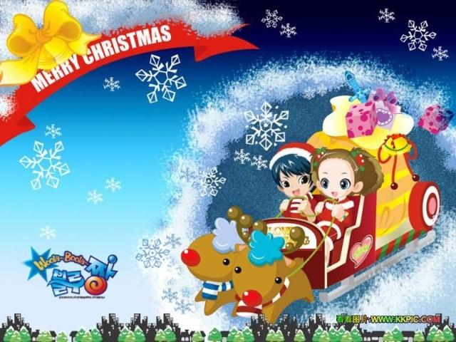 平安夜-圣诞雪花卡通简笔画 圣诞图片素材简笔画保存到桌面