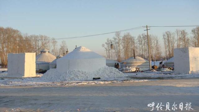 雪雕的制作方法