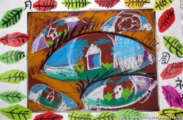儿童砂纸画——眼睛的想象