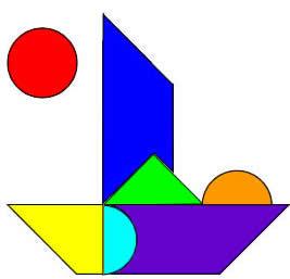 各有几种组合方案,能拼出的形状,或者沿着分解图形的基准线用铅笔轻轻图片