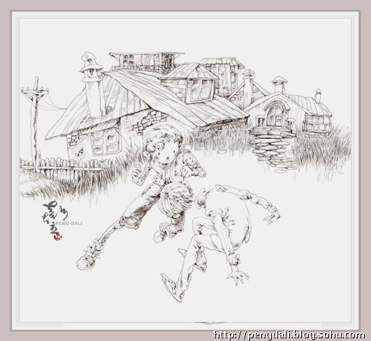 梵高星空铅笔手绘