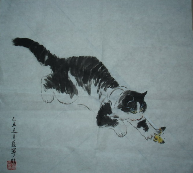 简笔画法:50只猫咪的画法