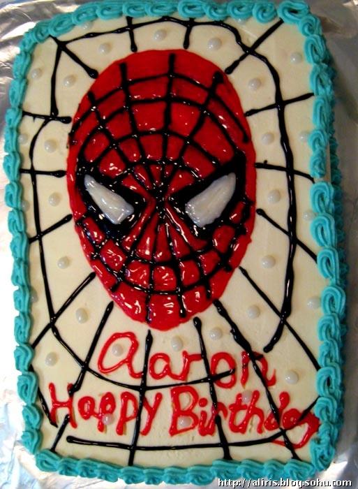 蜘蛛侠生日蛋糕