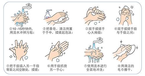 洗手步骤(图片来源于网络); 正确洗手; 你会洗手吗?