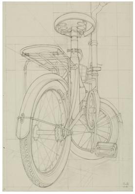 自行车素描结构图片