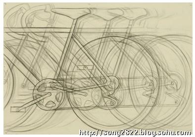 自行车写生到变化图片