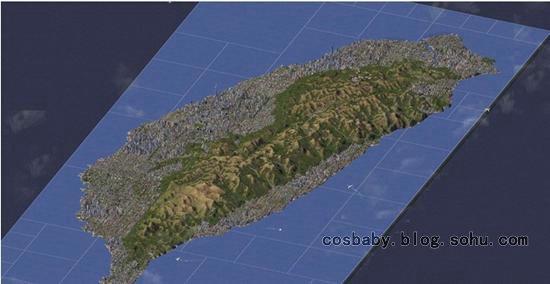 牛人用 模拟城市4 完全还原台湾岛