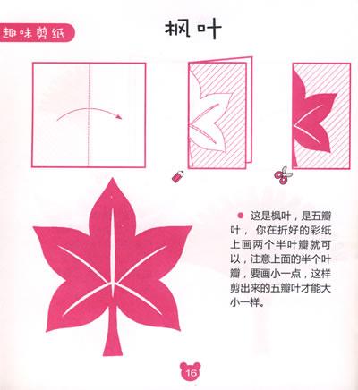 儿童剪纸图案大全简单图解步骤