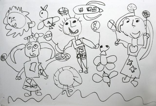 儿童画脸谱
