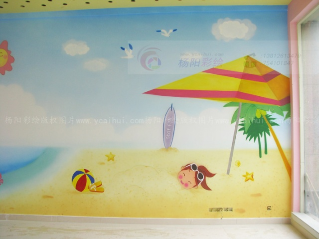 吴江手绘墙-亲子园墙面彩绘设计