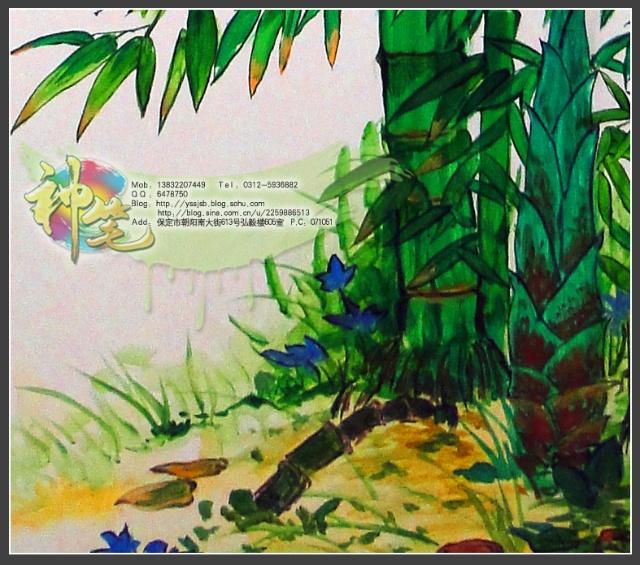 城市绿洲王姐家的主题彩绘【神笔故事 保定神笔墙体彩绘】