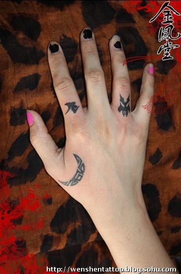手臂纹身图案,手指文身