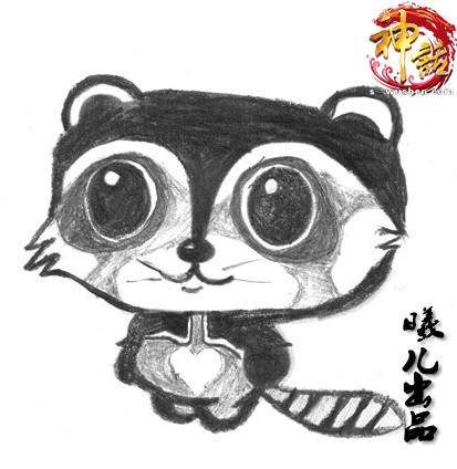 美女玩家曦儿还用此方式绘制了人气宠物龙猫宝宝和小浣熊宝宝