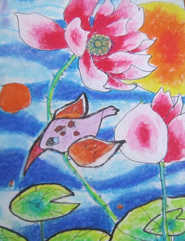 夏天儿童画教师范画展示_风景520