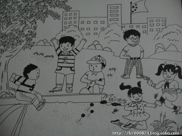 暑假作业---手抄报和平安校园的画