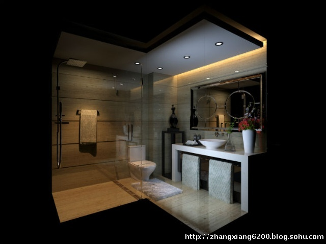 卫生间的设计 现代简约 三居室 装修设计