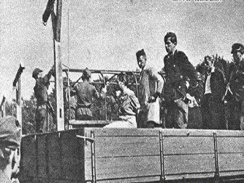 二战后波兰公开绞死纳粹德国女看守