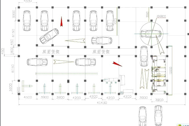 汽车美容店设计平面图分享展示
